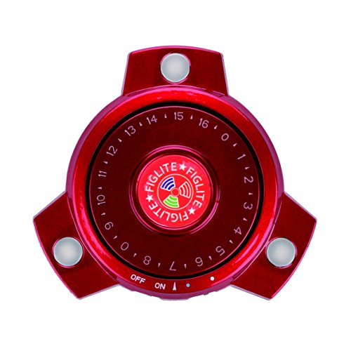 Figlite Flashing Fidget Spinner, Anti-Stress Release Toy for Adult and Kid, Build in Generator, No Battery (Red)