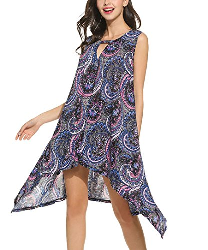 Women's Sleeveless Bohemia Irregular Hem - Sleeveless Keyhole Dress Shopping Results