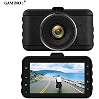 Dash cam, 3.0 inch vehicle monitor 1080p car recorder with G- sensor, 170 degree wild angle lens,loop recording 16G card