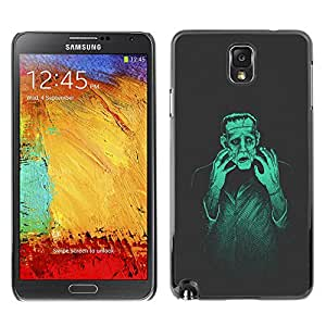 Paccase / SLIM PC / Aliminium Casa Carcasa Funda Case Cover para - Popular Man Monster Creation Mad Genius Art Ai Robot - Samsung Note 3 N9000 N9002 N9005