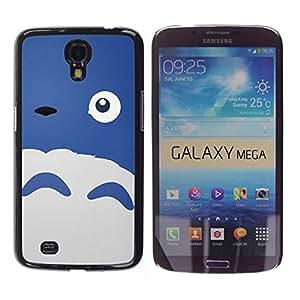 Shell-Star Arte & diseño plástico duro Fundas Cover Cubre Hard Case Cover para Samsung Galaxy Mega 6.3 / I9200 / SGH-i527 ( Happy Cute Monster Blue Sheep Eye )