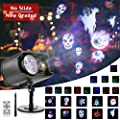 Halloween Christmas Projector Lights Ocean Wave Projector Light with Remote Control 12 Patterns Waterproof Outdoor&Indoor Lighting with Timer, Moving LED Patterns for Outdoor Indoor Halloween Xmas