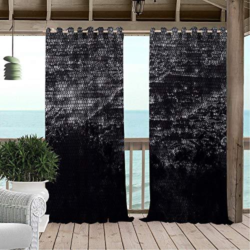 Linhomedecor Gazebo Waterproof Curtains City Night Scenes Multicolor doorways Grommets Parties Curtain 108 by 72 inch ()