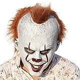 Dhakar Scary Clown Mask Joker Cosplay Costume Latex Mask