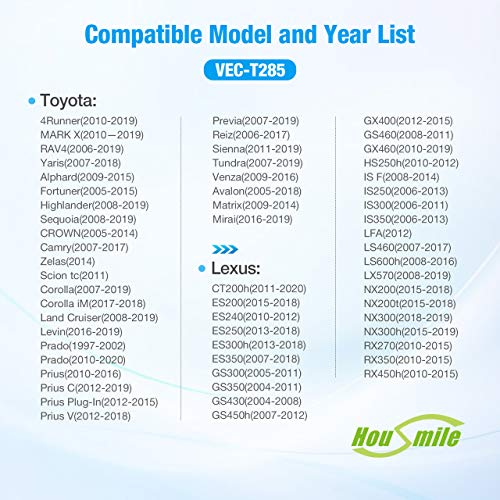 Housmile Premium Cabin Air Filter Replacement for FRAM CF10285,EPAuto CP285,Spearhead BE-285 Compatible for Toyota/Lexus/Subaru/Jaguar/Land Rover