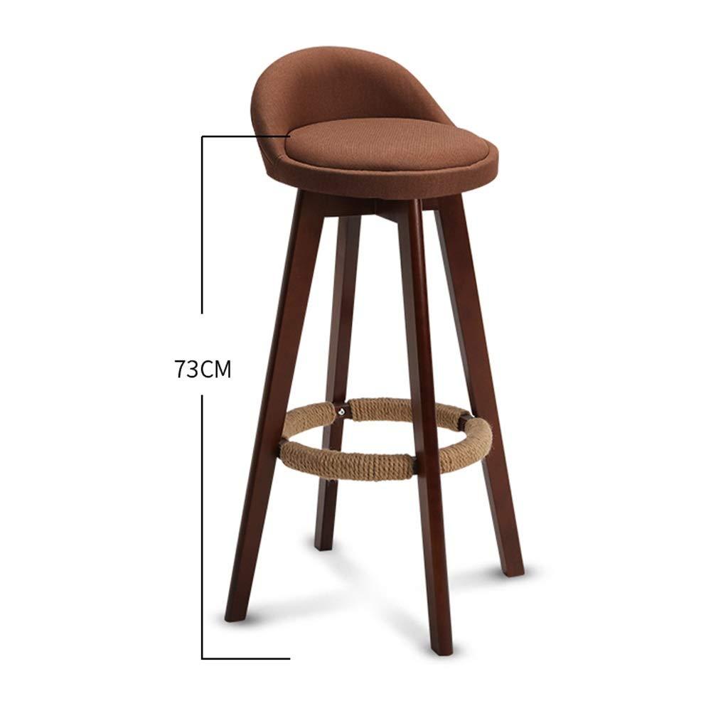 F TXXM Barstools Breakfast Kitchen Counter Chair bar Chair bar Stool Wooden bar Chair Black Multicolor (color   B)