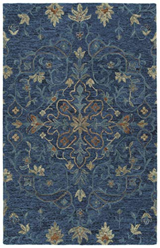 (Kaleen AGO06-10-23 2' x 3' Wool Area Rug in Denim, Hand-Tufted Rachael Ray Agora Collection, 2'x3',)