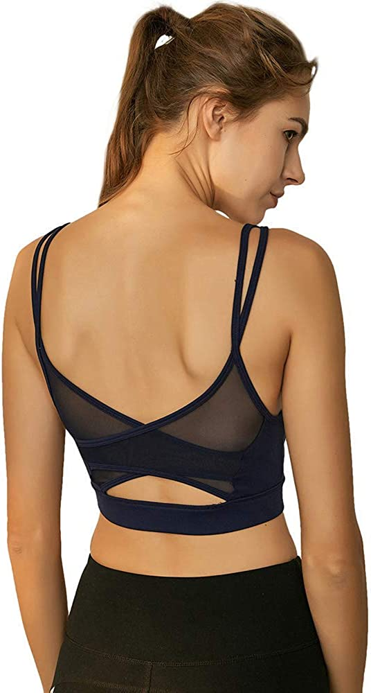 SKYSPER Sports Bras for Women,Seamless High-Elastic Removable Pads for Yoga Excerise Running Fitness Gym Activewear Bra