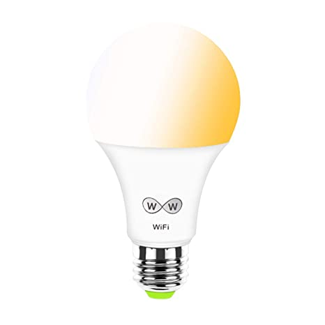 Bombilla LED WiFi inteligente, Temperatura de color CCT ajustable, blanco, luz blanca cálida