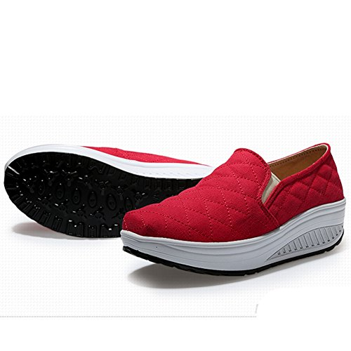 Btrada Zapatillas De Deporte Para Mujer Zapatillas De Lona Sobre Amortiguación Antideslizantes Zapatillas De Deporte Ocasionales De Red