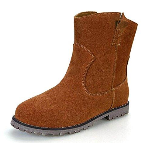 Pelle Stivali Stivali Opaco Autunno Martin E Inverno Scarpe Stivali Camelpluscotton qa1OUa