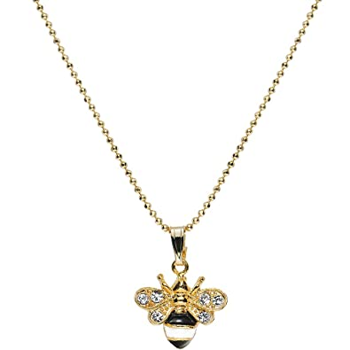 original carat diamond by necklace bumblebee sapphire product with lily charmed gold lilycharmed nine bee