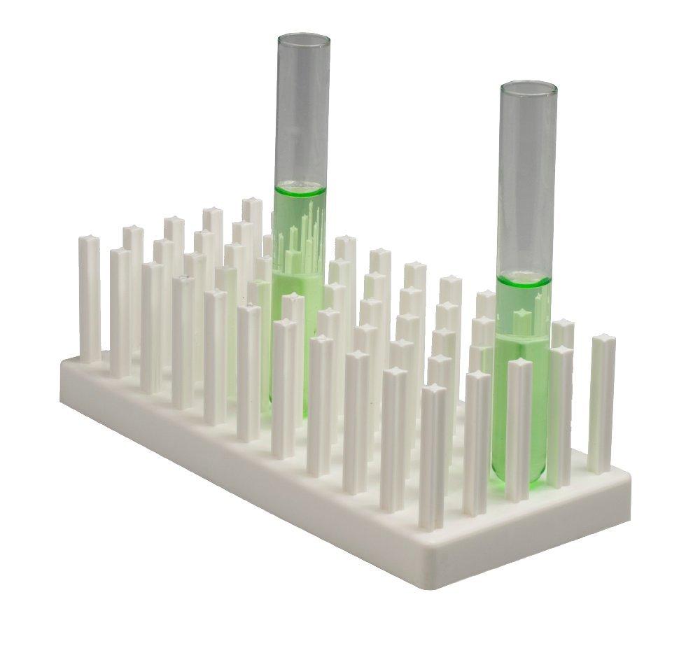 Neolab 2353 polipropileno, 15,2 x 25,4 cm Estante para tubos de ensayo
