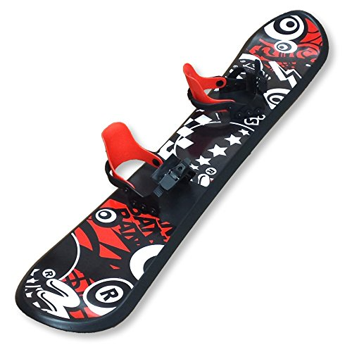 Grizzly Snow 126cm Deluxe Kid's Beginner Red and Black Snowboard