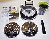 Feed Chute & Grating Slicing Kit for BL491 BL492 BL494 Ninja Auto IQ Compact Blender
