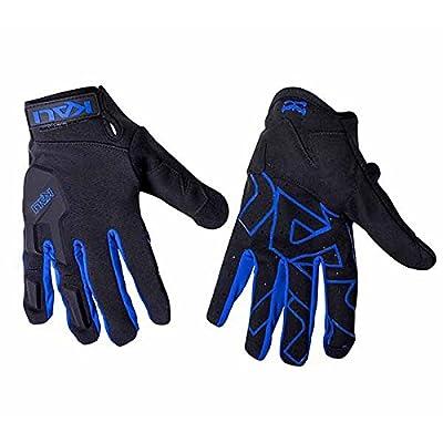 Kali Protectives 040117226 Gant de Vélo pour Vtt Mixte Adulte, Noir/Bleu, Taille : M