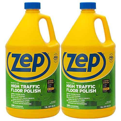 Zep High Traffic Floor Polish 128 Ounce ZUHTFF128 (Pack of 2)
