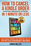 How to Cancel a Kindle Order And Return a Kindle Book for Refund in 1 Minute or Less