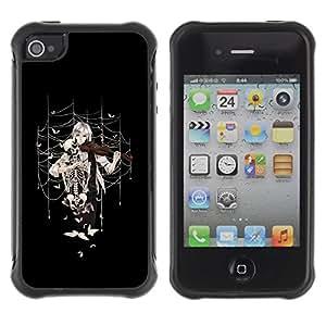 "Hypernova Defender Series TPU protection Cas Case Coque pour Apple iPhone 4 / iPhone 4S [Anime la muchacha del violín""]"