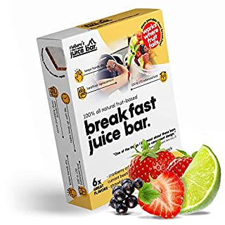 Nature's BREAKFAST Juice Bar 6 Original 100-170 kcal Soft Fruits in Wafer | As Whole as Fruit as Convenient as a Bar | Excellent Source of Potassium, Calcium & Iron to Power Your Day Like Breakfast