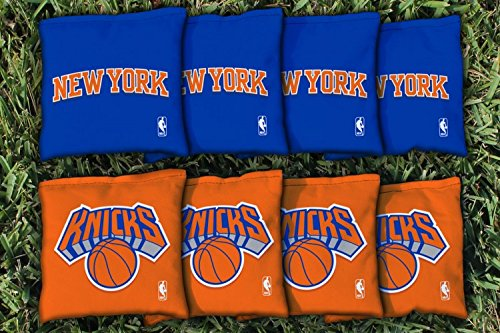 NBA Replacement All Weather Cornhole Bag Set NBA Team: New York Nyk Knicks by Victory Tailgate