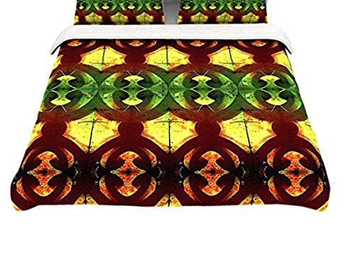 Kess InHouse Amanda Lane Southwestern Black Cream Tribal Geometric Cotton King Duvet Cover 104 x 88
