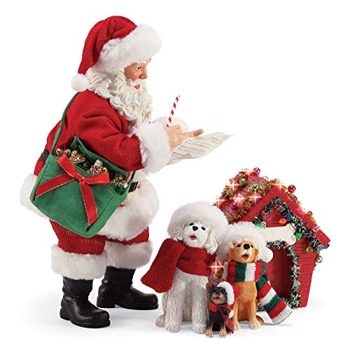 "Department 56 Possible Dreams Santa and His Pets Carolers Figurine, 10"", Multicolor"
