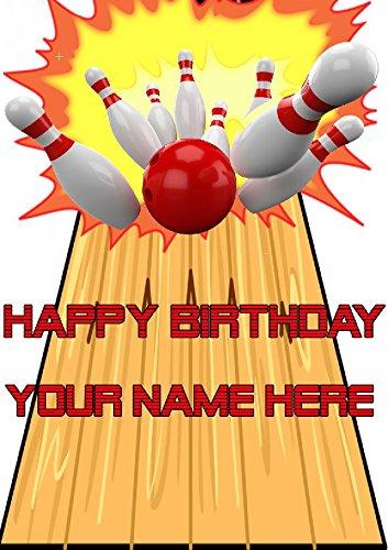 Diez pistas de bolos cptmi64 feliz cumpleaños A5 Tarjeta de ...