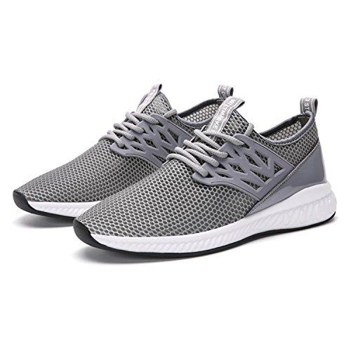 SITAILE Unisex Herren Damen Helle Sportschuhe Sport Outdoor Schuhe Laufschuhe Sneaker B-Grau