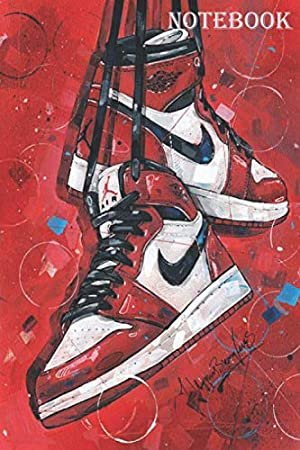 notebook Nike Air Jordan: journal Use Gift Book in Soft Cover Letter Size (6 x 9 inches) Small from 120 Lined Journals