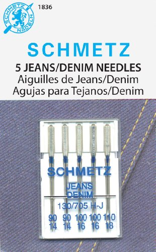 SCHMETZ Jeans (130705 H-J) Household Sewing Machine Needles - Carded - Assortment