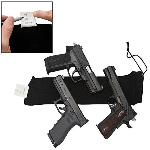 DecoyPro Gun Socks for Handguns with Gun ID - Gun Socks for Pistols - Breathable Moisture Wicking Gun Sock Black ()