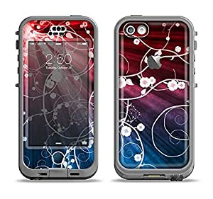 The Blue and Red Light Arrays with Glowing Vines Apple iPhone 5c LifeProof Nuud Case Skin Set (Skin Only)