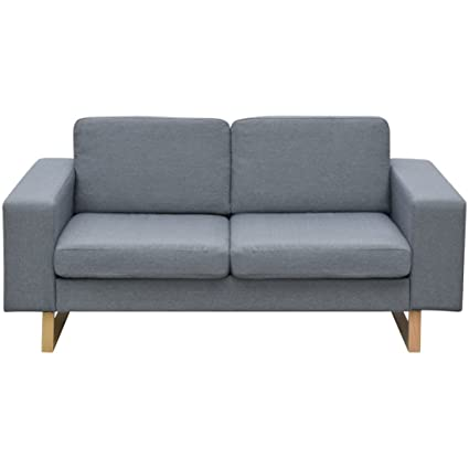 Amazon.com: Tidyard Modern Loveseat, 2 Seater Sofa Futon ...