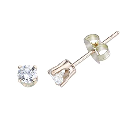 e70e913c3 Image Unavailable. Image not available for. Color: 0.2 Carat 14K Yellow Gold  0.20 Ct Diamond Stud Earrings For Women ...