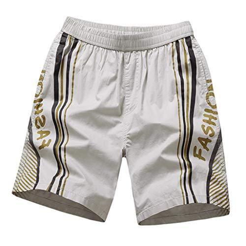 perfectCOCO Mens Swimtrunks Plus Size Swimwear Hawaiian Trunks Quick Dry Beach Swimsuit Shorts Surfing Running Pants Gray -