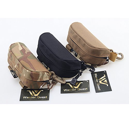 Warrior Quest Anti-Shock 1050D Nylon Molle Sunglass Case - Protective Eyeglasses Case Safety Glasses Case Sunglasses Box Mens Eyeglass Case (Semi-Hard Case)