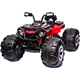 Costzon Ride on ATV Quad 4 Wheeler, 12V Kids Electric Car, ATV Quad with High/Low Speed MP3 Battery Powered
