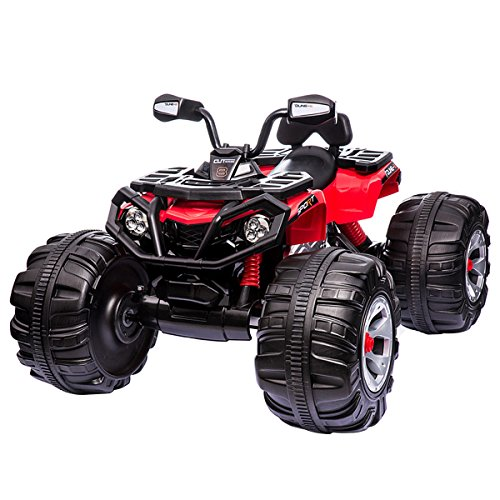 Costzon Ride on ATV Quad 4 Wheeler, 12V Kids Electric Car, ATV...