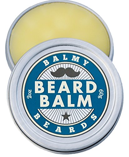 Hair Growth Aid (Balmy Beards Best Premium Beard Balm and Leave In Conditioner and Wax - all Natural Organic Beard and Mustache Softener - Styles, Strengthens and aids Hair Growth)