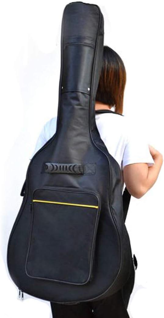 TRIXES Funda Acolchada de Guitarra Clásica y Acústica de Tamaño Completo Bolsa de Guitarra Clásica y Acústica Negro Transporte Con Un Tira Para el Hombro Ajustable y un Amplio Compartimento Frontal
