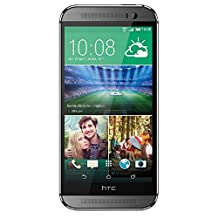 HTC One M8 Unlocked Phone with Dual 4 MP Primary Camera, 3G, 32GB Storage, QHTC - International Version (Grey)