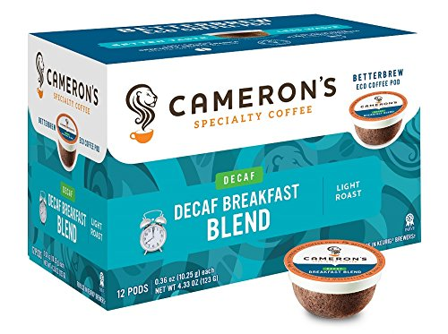 Cameron's Coffee Single Serve Pods, Decaf Breakfast Blend, 12 Count