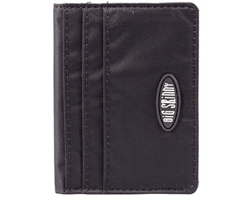 Big Skinny New Yorker ID Slim Wallet, Holds Up to 24 Cards, Black