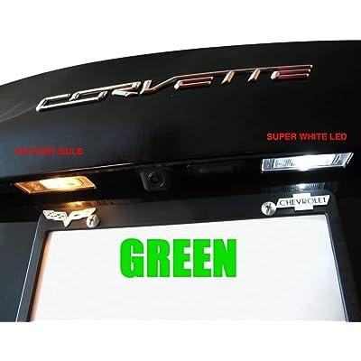 C7 Corvette - Rear Hatch & License Plate LED Lighting Kit : Stingray, Z51, Z06 (Green): Automotive