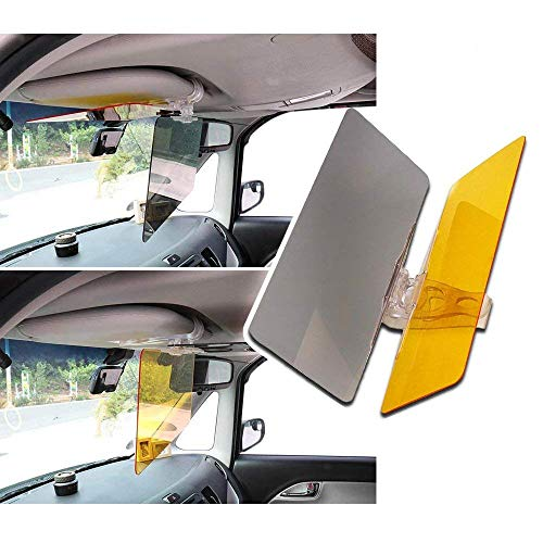 RED SHIELD Car Sun Visor Extender, Windshield Sun Shade, 2 in 1 Transparent Anti-Glare Tinted Shields for Day and Night [2 PK]