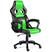 GTracing Executive High-Back Gaming Office Chair PU Leather Swivel Computer Chair Green