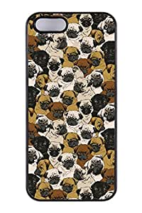 Personalized Custom Social Pugs Hard PC Phone Case Back Cover For iPhone5,5s,5g wangjiang maoyi