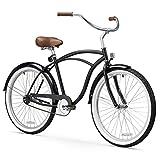 sixthreezero Men's Be 1-Speed Beach Cruiser Bicycle (Black, 26-Inch)
