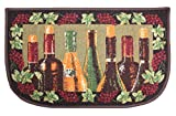 wine and grapes kitchen rugs - Fashion Non-Skid Printed Comfort Kitchen Mat Area Rug, 18x30